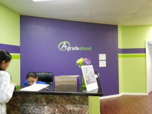 Brandon Academy Front Desk Lobby Purple Green Wall Decal
