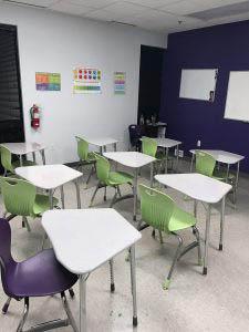 A Grade Ahead of Bear Enrichment Academy Classroom Desk White Board