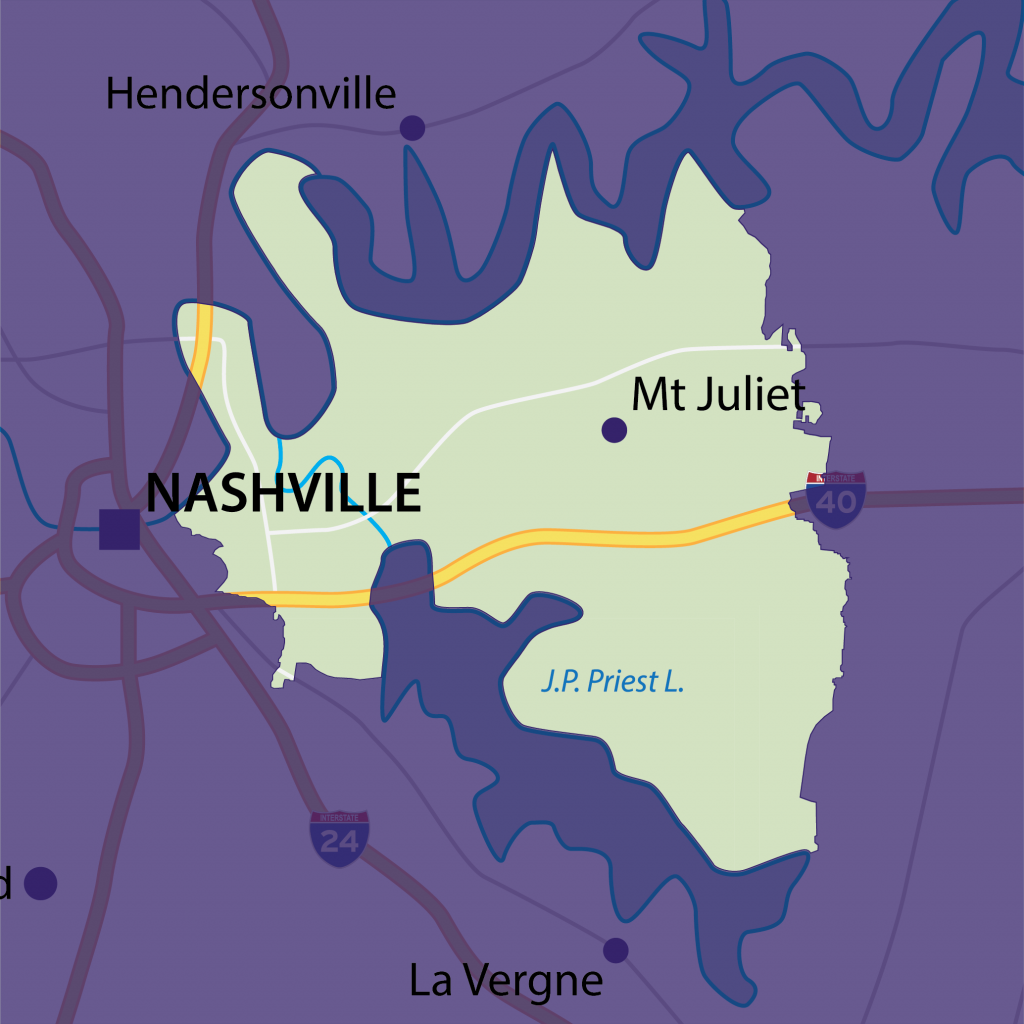 Mt Juliet tutoring territory map
