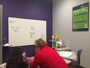 A Grade Ahead Classroom Teacher Student Whiteboard Study Lesson Key Words