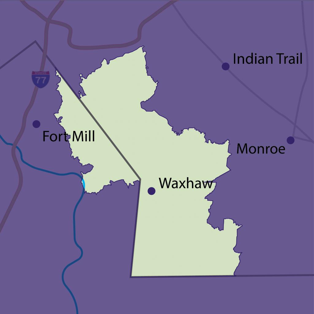 Waxhaw tutoring territory map