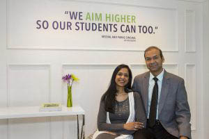A Grade Ahead Founders Meenal Singhal Parag Singhal We Aim Higher So Our Students Can Too